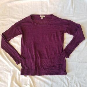 Ann Taylor Loft Fushia Long Sleeve Knit Top